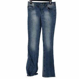 L.E.I. Womens Stretch Boot Cut Jeans Juniors 7 L